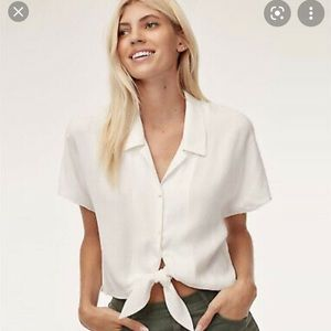 Aritzia Wilfred Tie-Front Blouse